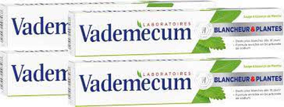 Dentifrice blancheur & plantes, Vademecum LOT DE 3 (3 x 75 ml)
