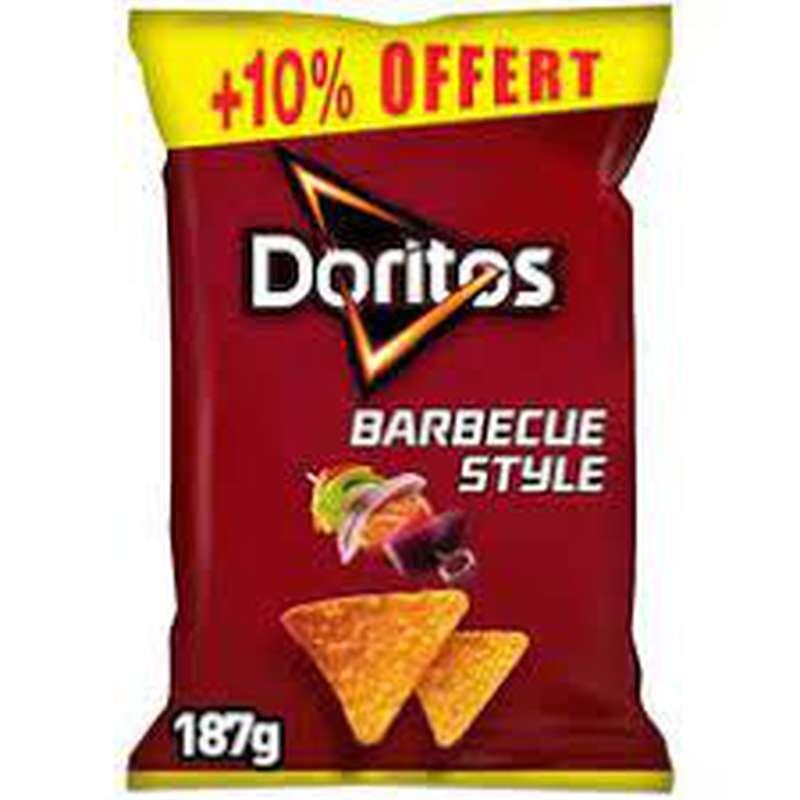 Tortilla goût barbecue style, Doritos (170 g + 10% OFFERT)