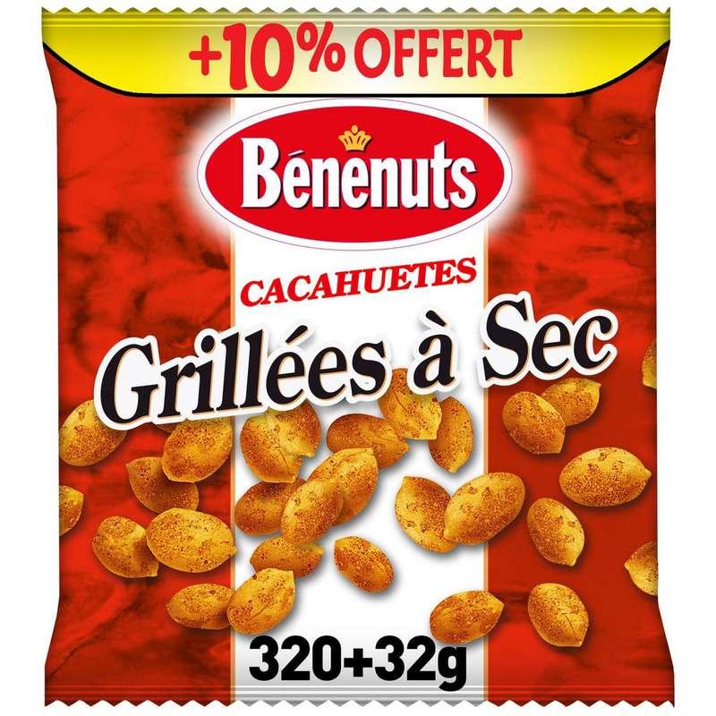 Cacahuètes grillées à sec, Benenuts (320 g + 10% OFFERT)