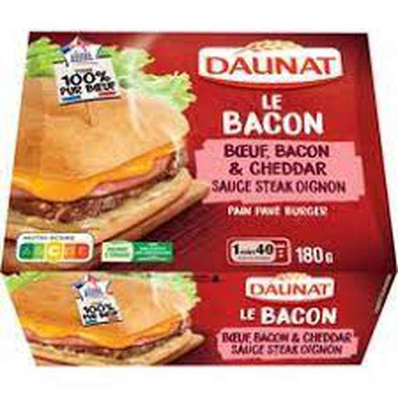 Sandwich Le Bacon boeuf et cheddar, Daunat (180 g)
