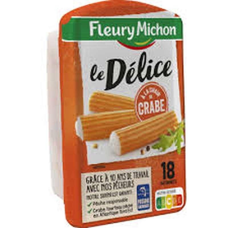 Bâtonnets de surimi Le Délice à la chair de crabe, Fleury Michon  (x 18, 300 g)