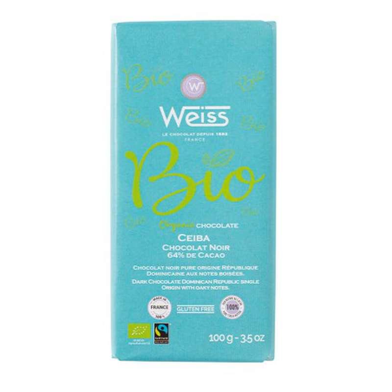 Tablette Ceiba BIO chocolat noir 64% de cacao, Weiss (100 g)