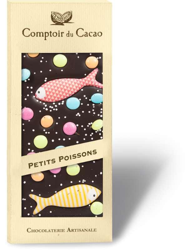 Tablette Chocolat Noir Poissons, Comptoir Cacao (90 g)