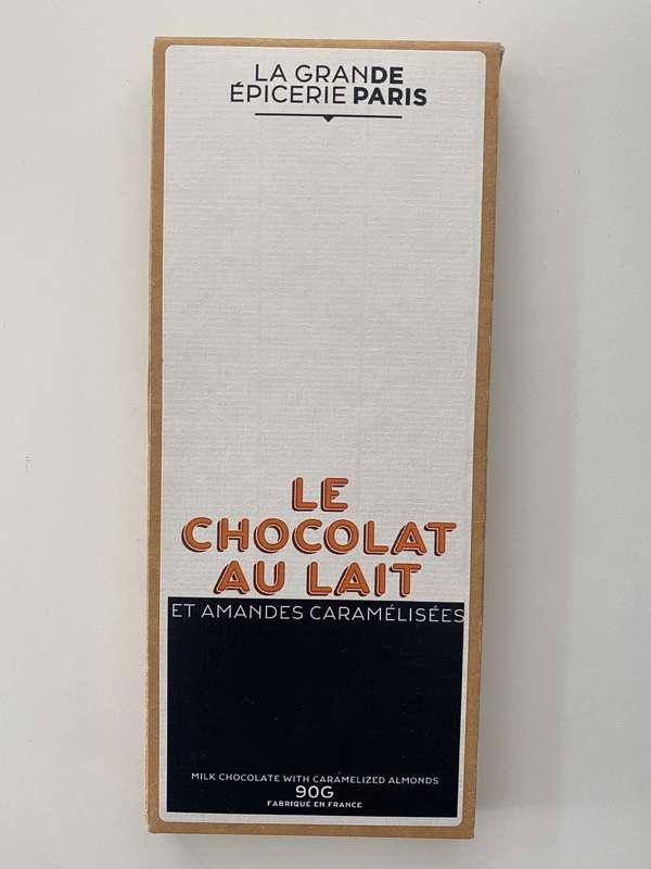 Tablette de chocolat au lait aux amandes caramélisées, La Grande Epicerie de Paris (90 g)
