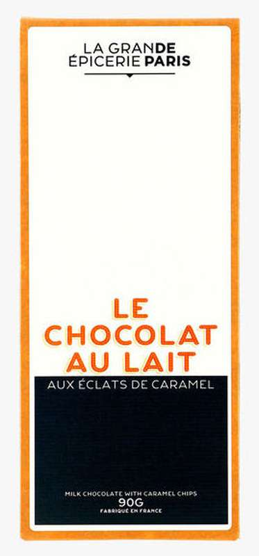 Tablette de chocolat au lait aux éclats de caramel, La Grande Epicerie de Paris (90 g)