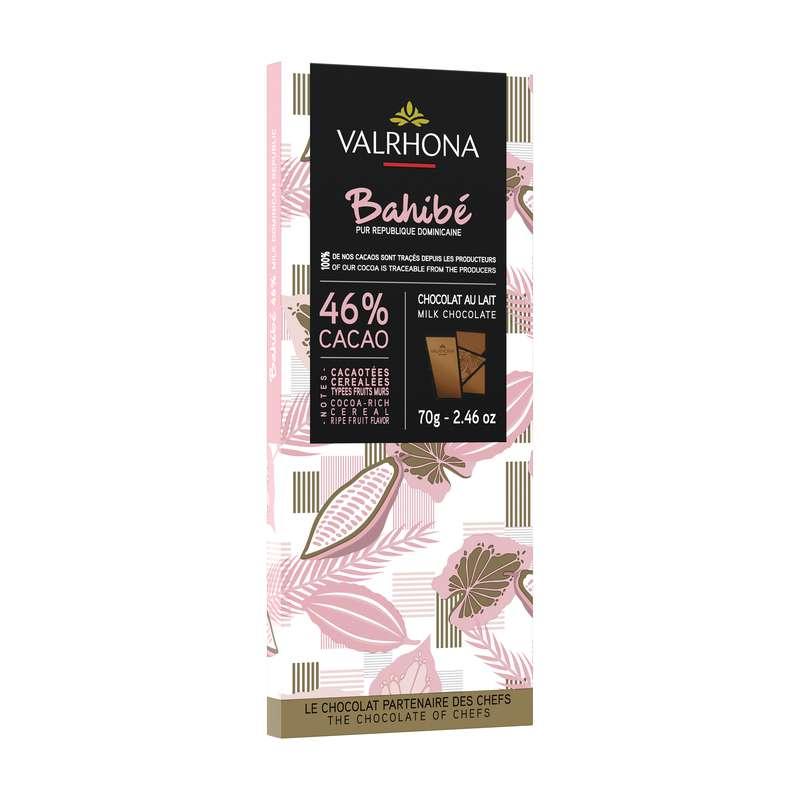 Tablette de chocolat au lait Bahibe 46%, Valrhona (70 g)