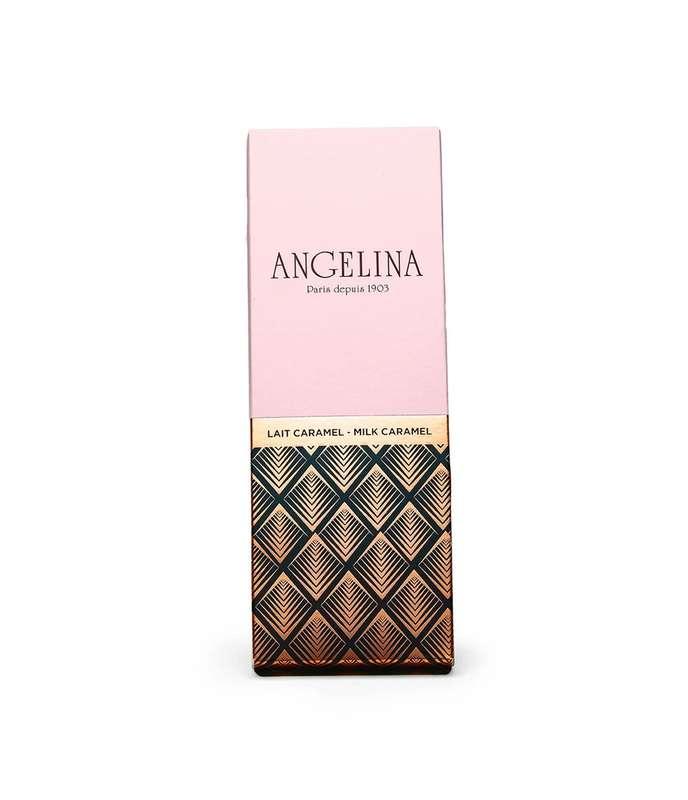 Tablette de chocolat au lait caramel, Angelina (75 g)