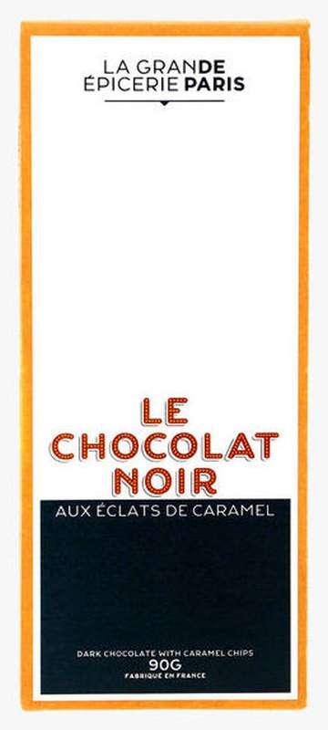 Tablette de chocolat noir aux éclats de caramel, La Grande Epicerie de Paris (90 g)