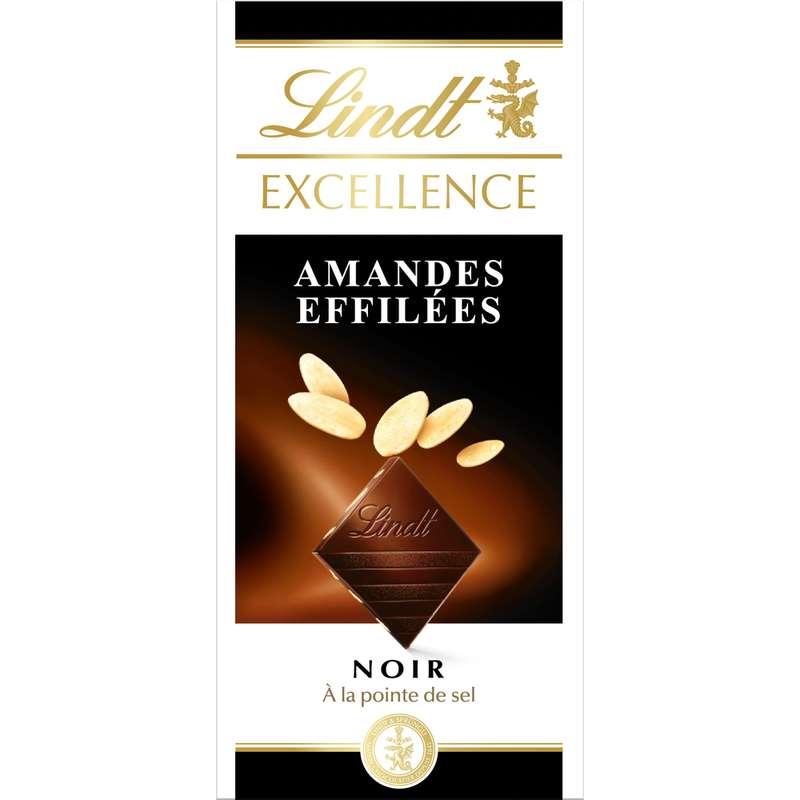 Chocolat noir amandes effilées, Lindt (100 g)