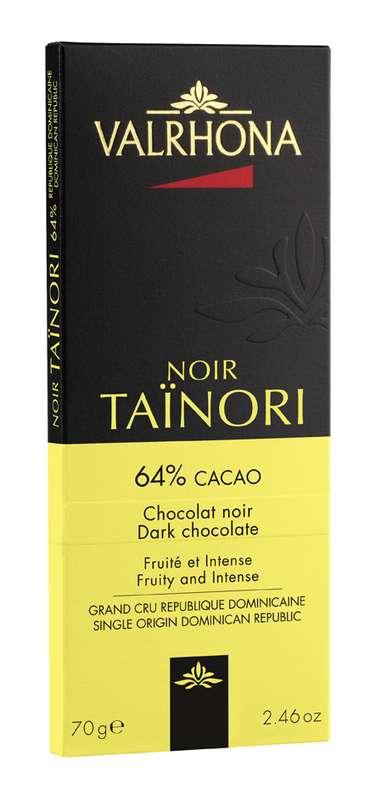 Tablette de chocolat noir Taïnori 64%, Valrhona (70 g)