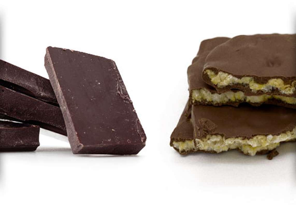 Galette de maïs enrobée de chocolat noir sans sucre, Maison Gramm's (50 g)
