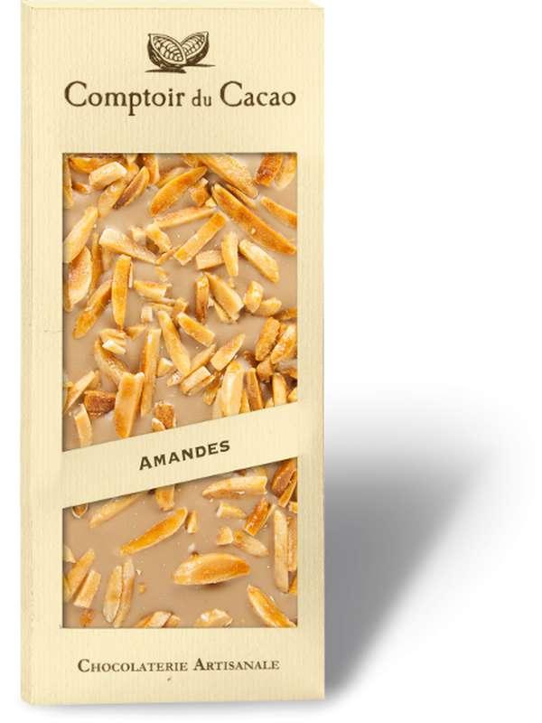 Tablette gourmande blond amandes caramélisées, Comptoir Cacao (90 g)
