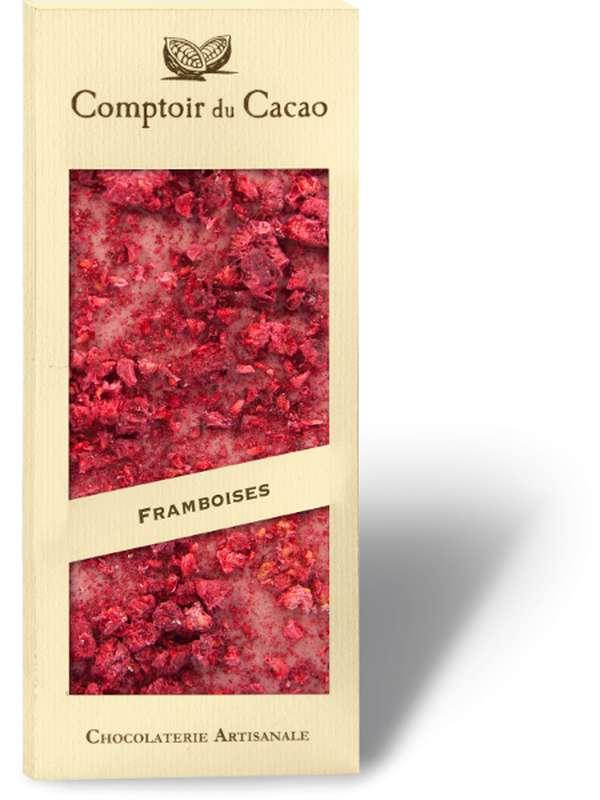 Tablette gourmande framboise Ruby, Comptoir Cacao (90 g)