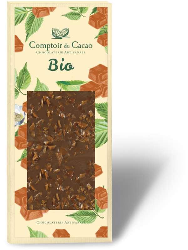 Tablette gourmande lait caramel au beurre salé BIO, Comptoir Cacao (90 g)