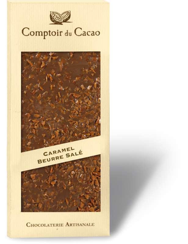 Tablette gourmande lait caramel beurre salé, Comptoir Cacao (90 g)