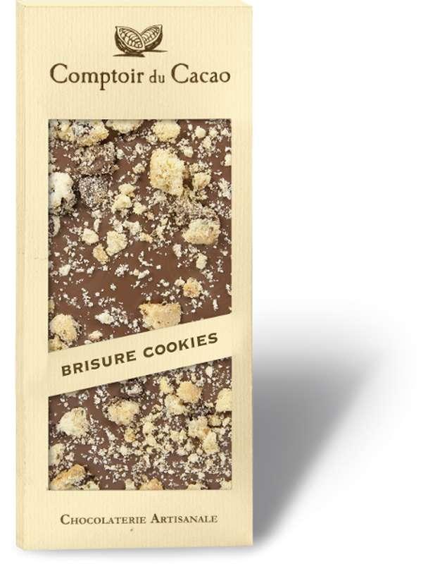 Tablette gourmande lait cookies, Comptoir Cacao (90 g)