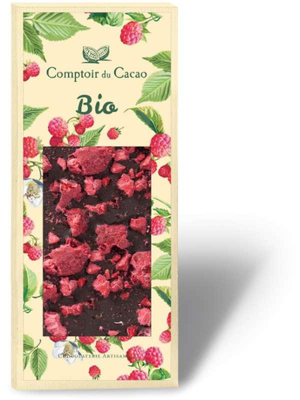 Tablette gourmande lait framboise BIO, Comptoir Cacao (90 g)