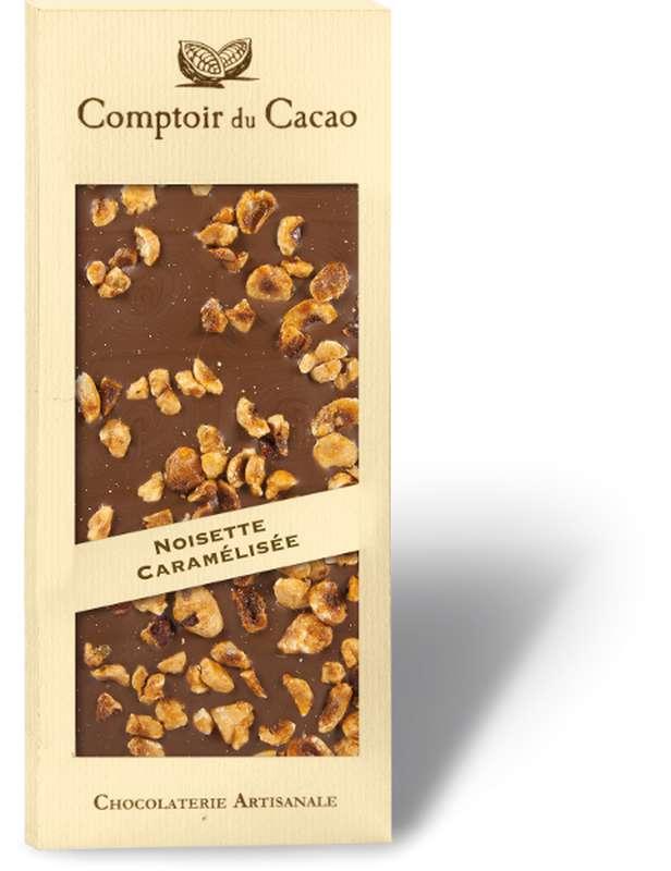 Tablette gourmande lait noisettes caramélisées, Comptoir Cacao (90 g)