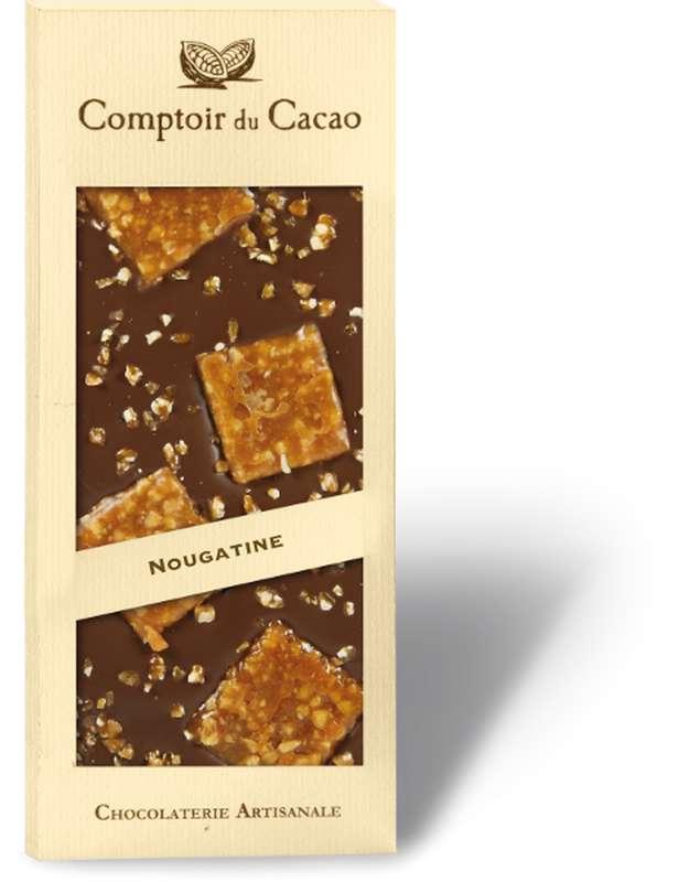 Tablette gourmande lait nougatine, Comptoir Cacao (90 g)