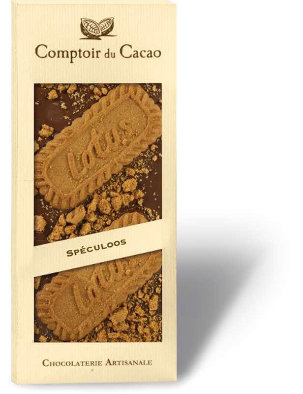 Tablette gourmande lait spéculos, Comptoir Cacao (90 g)