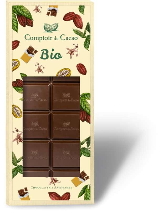 Tablette gourmande noir 72% BIO, Comptoir Cacao (90 g)