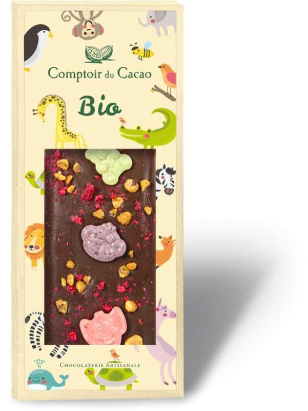 Tablette gourmande noir animaux BIO, Comptoir Cacao (90 g)