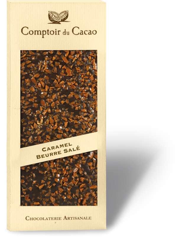 Tablette gourmande noir caramel beurre salé, Comptoir Cacao (90 g)