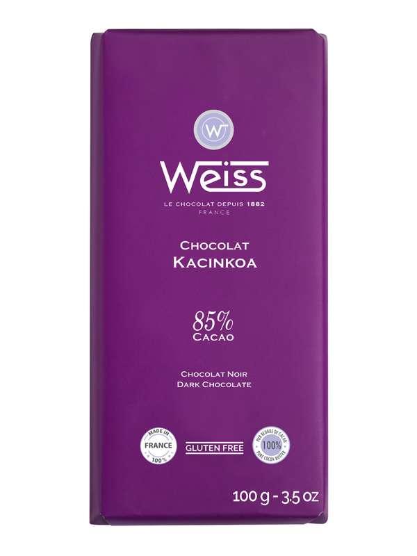 Tablette Kacinkoa chocolat noir 85% de cacao, Weiss (100 g)