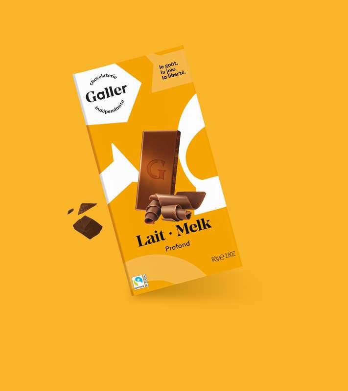 Tablette lait profond, Chocolat Galler (80 g)