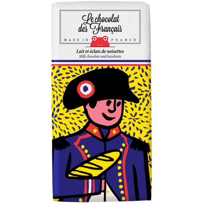 Tablette Napoléon Lait et éclats de noisettes BIO, Le Chocolat des Français (80 g)