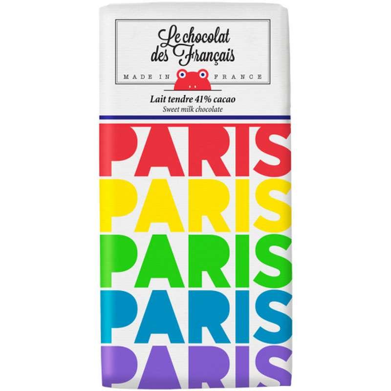 Tablette Paris Multi Lait Tendre 41% BIO, Le Chocolat des Français (80 g)
