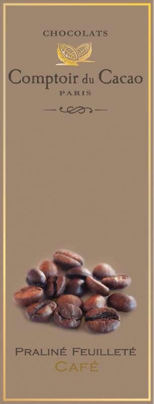 Tablette praliné feuilleté café, Comptoir Cacao (80 g)