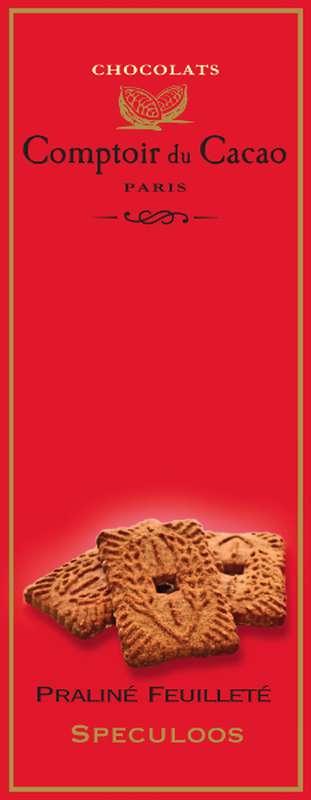 Tablette praliné feuilleté spéculos, Comptoir Cacao (80 g)