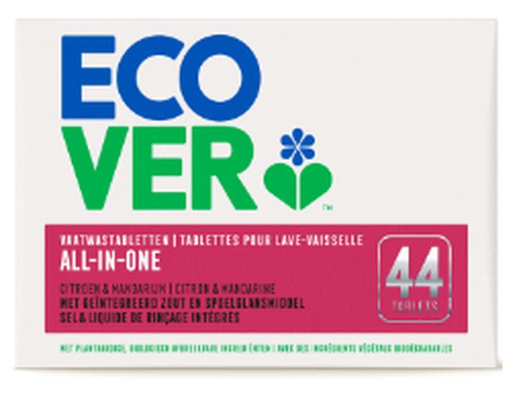 Tablettes lave-vaisselle tout-en-un, Ecover (x 44, 880 g)