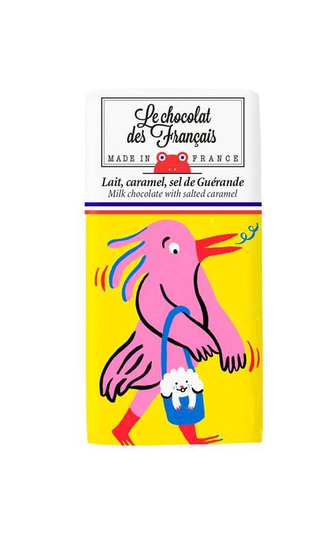 Tablettine Cacaotès Lait Caramel et Sel de Guérande BIO, Le Chocolat des Français (30 g)