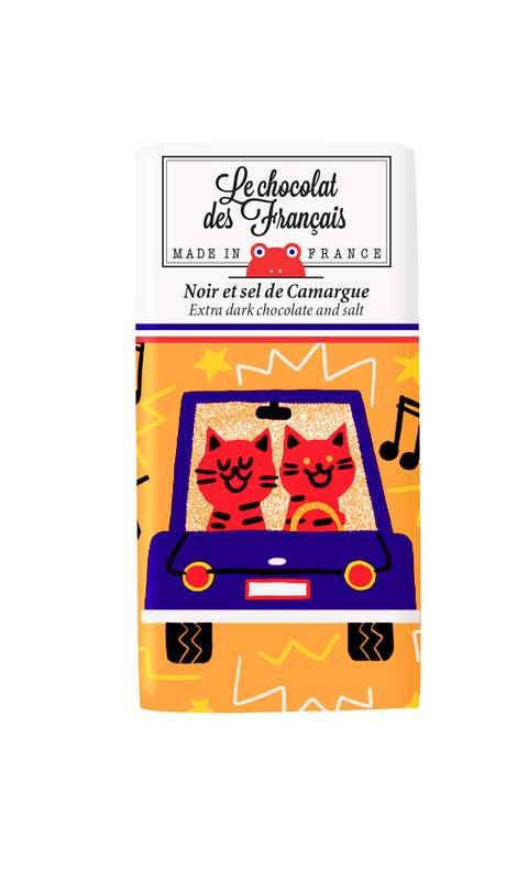 Tablettine Karaocar Noir et Sel de Camargue BIO, Le Chocolat des Français (30 g)