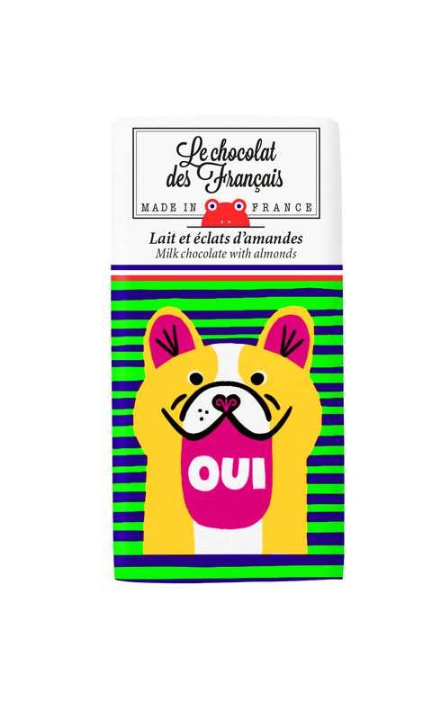 Tablettine Oui Lait et éclats d'Amandes BIO, Le Chocolat des Français (30 g)