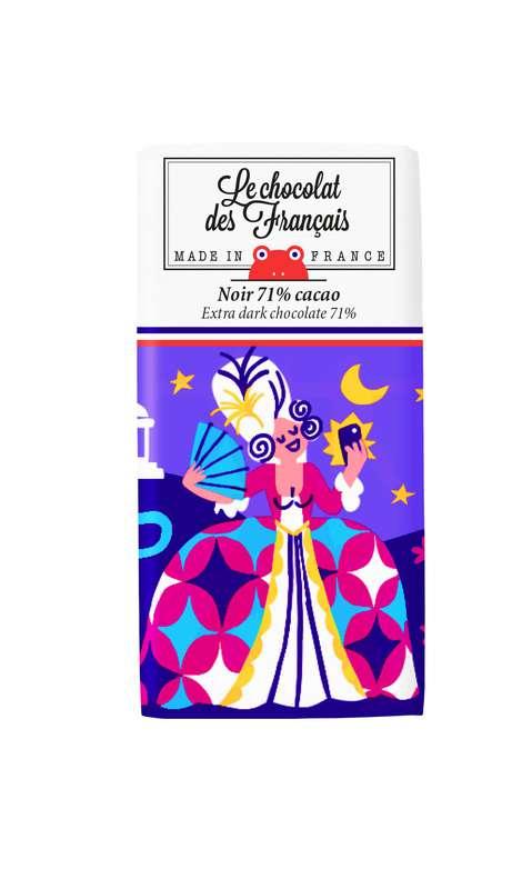 Tablettine Trianon Noir 71% BIO, Le Chocolat des Français (30 g)