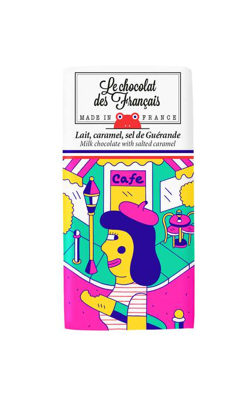 Tablettines Café Lait Caramel et Sel de Guérande BIO, Le Chocolat des Français (30 g)