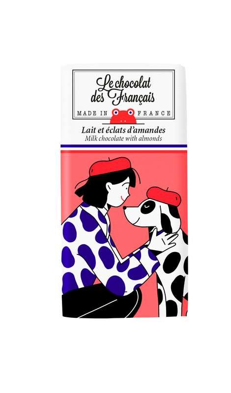 Tablettines Dalmatien Lait Amandes BIO, Le Chocolat des Français (30 g)