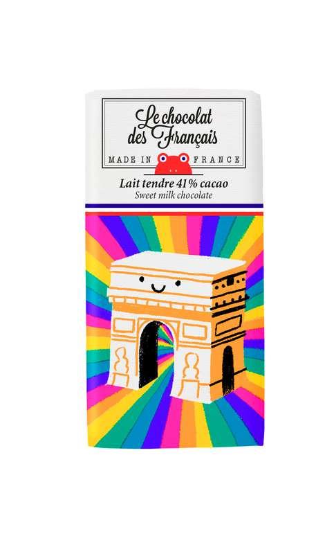 Tablettines L'Arc de Triomphe Lait Tendre 41% BIO, Le Chocolat des Français (30 g)