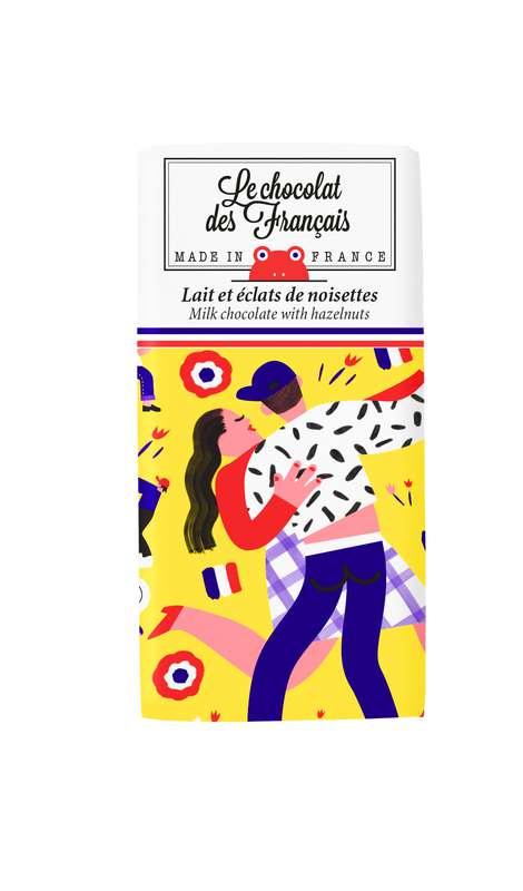 Tablettines La Danse Lait Noisettes BIO, Le Chocolat des Français (30 g)