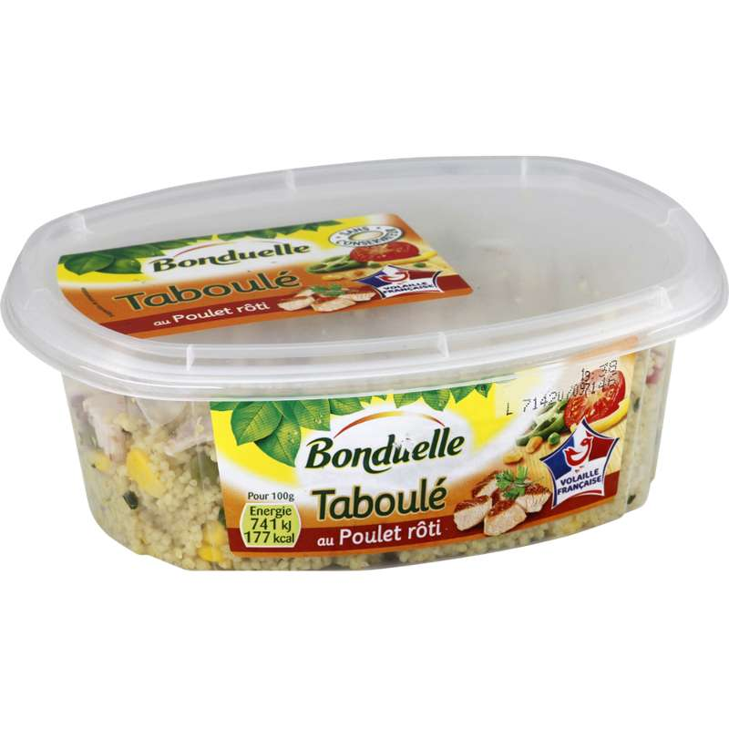 Taboulé au poulet rôti, Bonduelle (300 g)