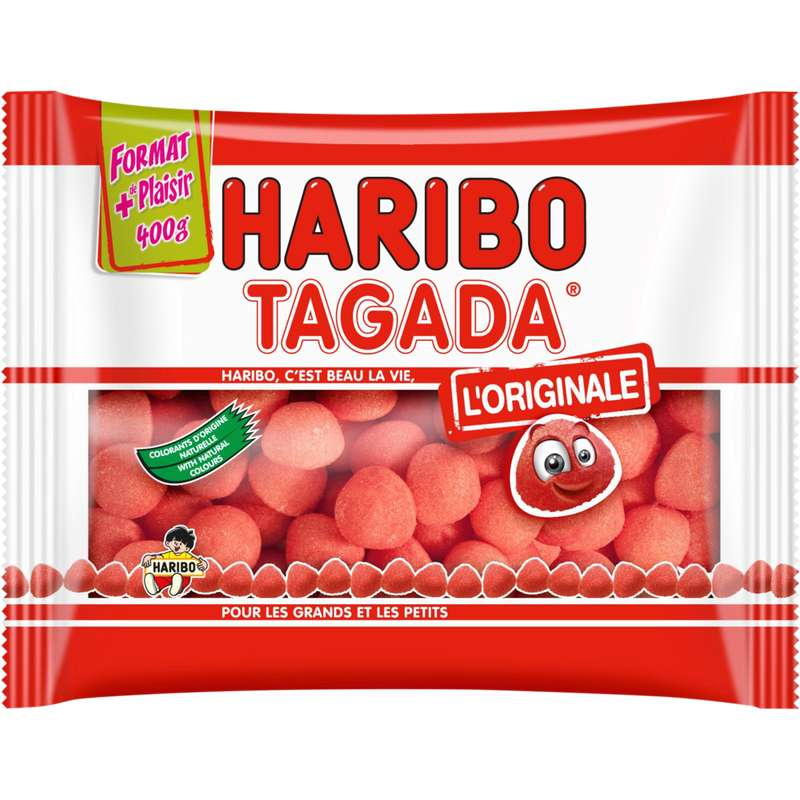 Bonbons Fraise Tagada, Haribo (400 g)