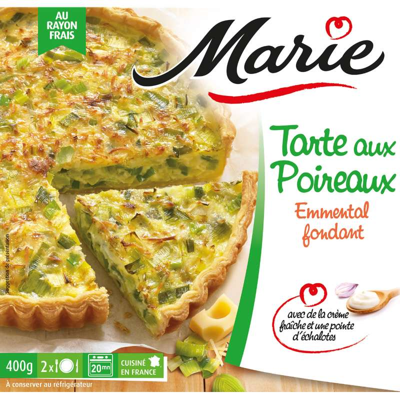 Tarte aux poireaux emmental fondant, Marie (400 g)