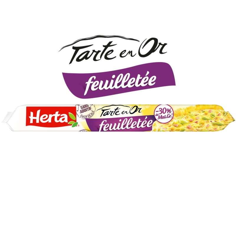 Pâte feuilletée Tarte en Or -30% de MG, Herta (230 g)