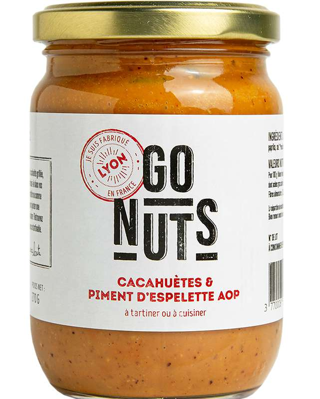 Tartinable Cacahuètes et Piment d'Espelette AOP BIO, Go Nuts (270 g)