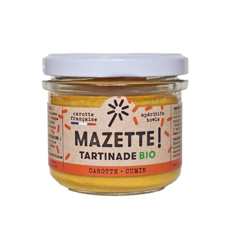 Tartinade carotte - cumin BIO, Mazette ! (100 g)