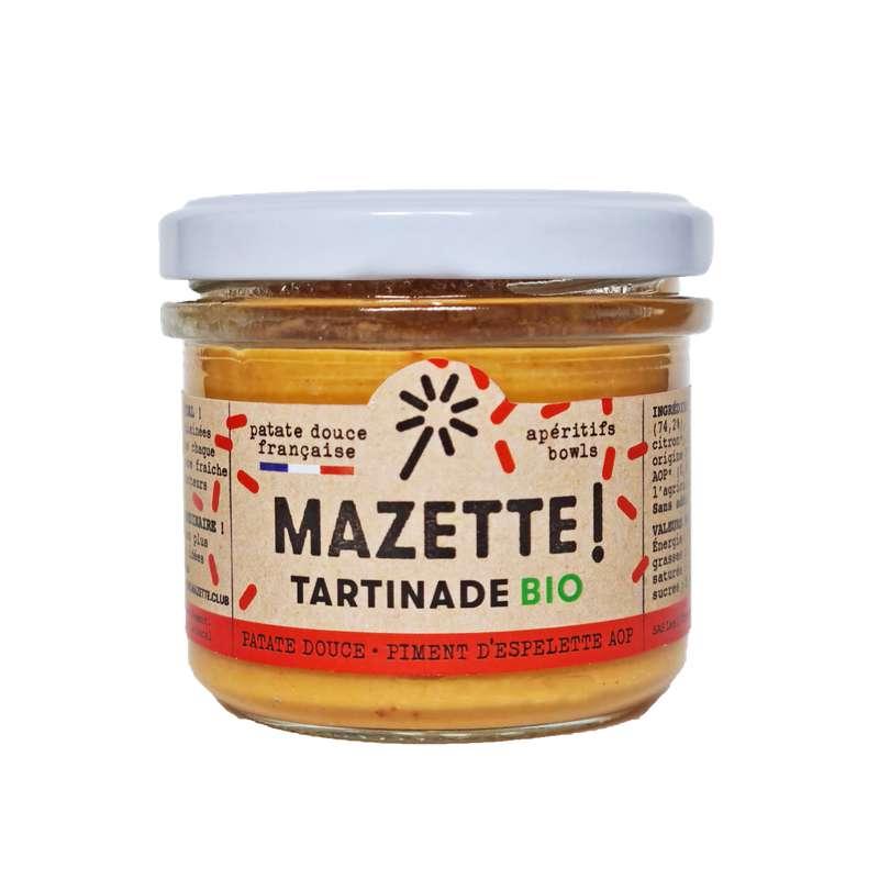 Tartinade patate douce - piment d'Espelette BIO, Mazette ! (100 g)