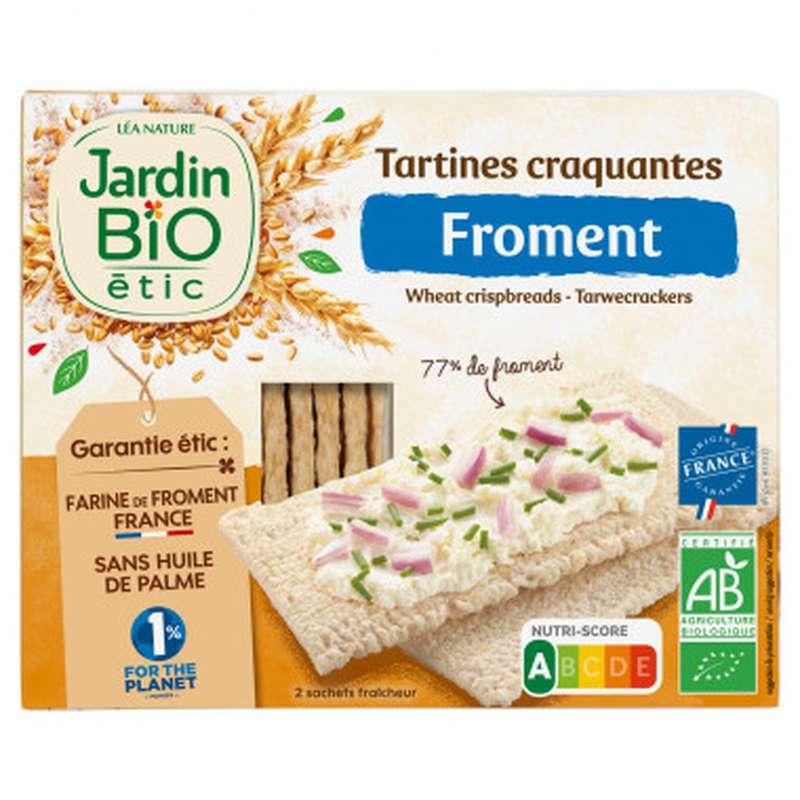 Tartine craquantes froment BIO, Jardin Bio étic (150 g)